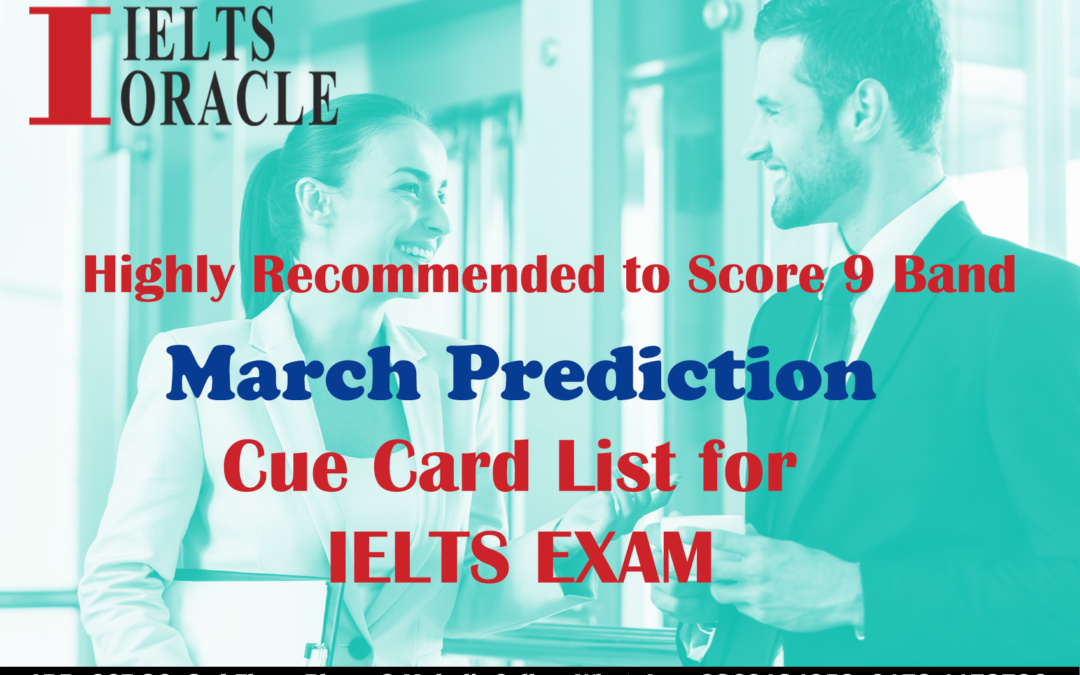 IELTS Speaking cue card prediction March