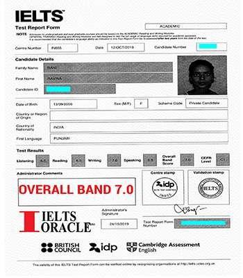 Ravina IELTS 7.5 band