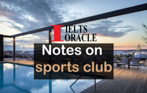 Notes on sports club