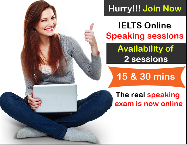 IELTS online speaking session