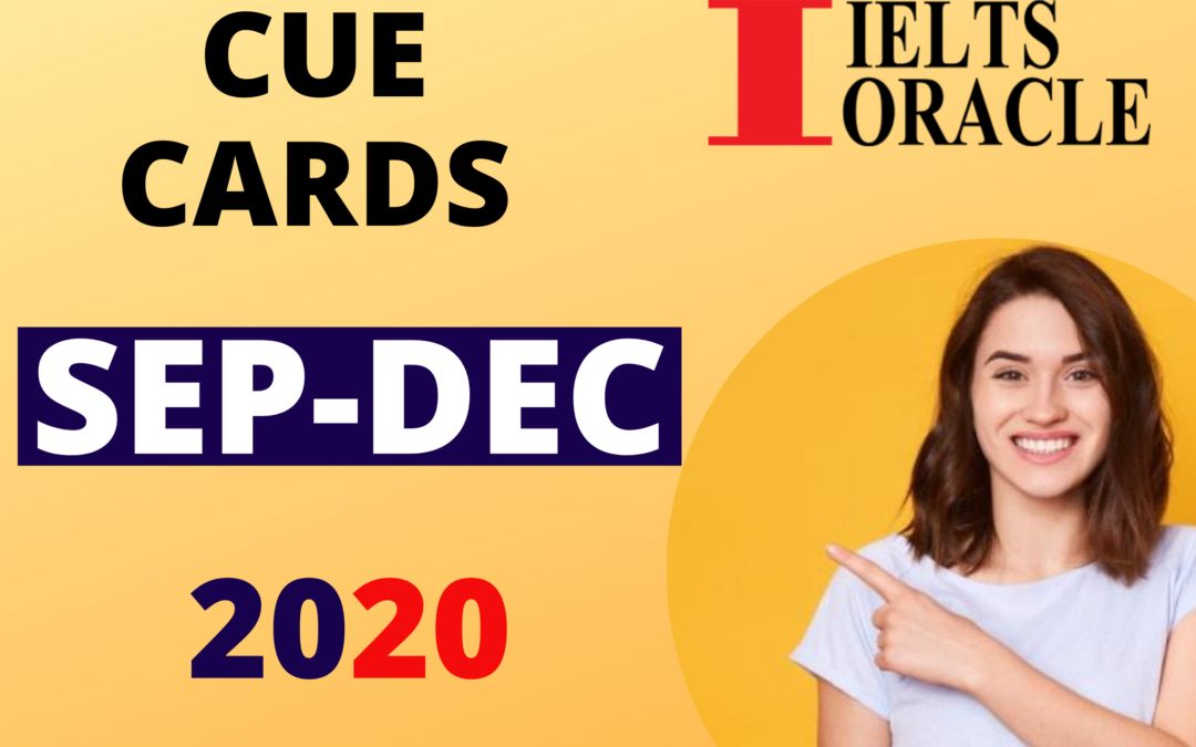 Cue Cards September To December 2020 | New Cue Cards September To December 2020 | September To December Cue Cards 2020
