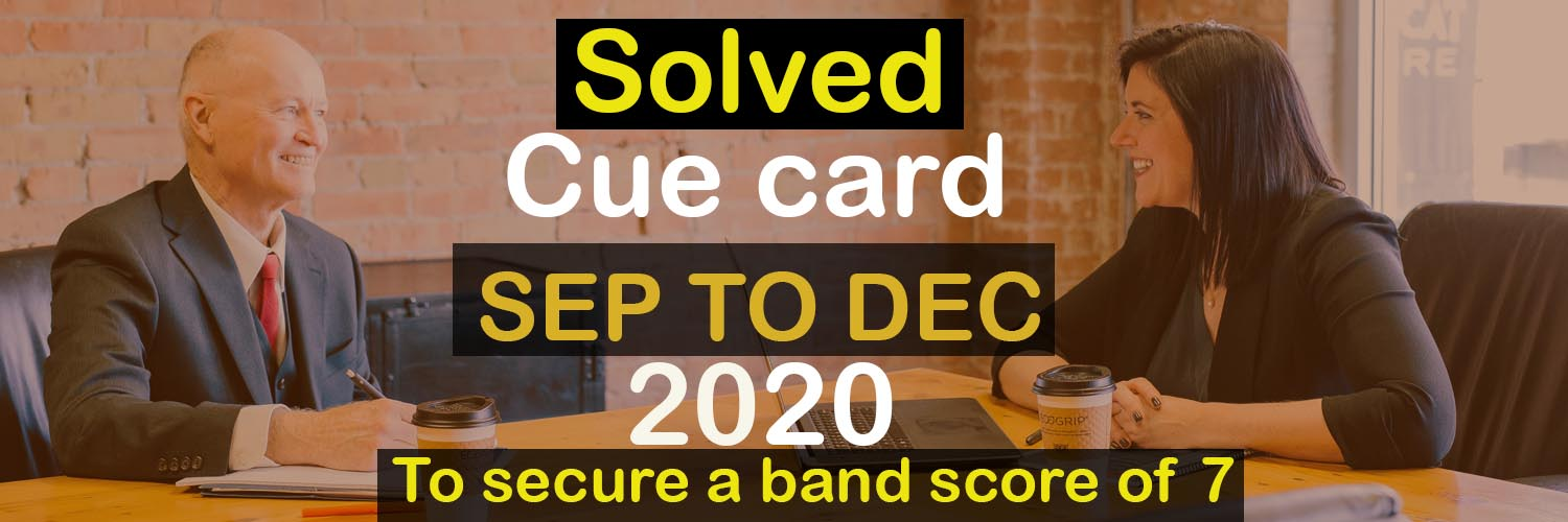 Solved cue card sep to dec 2020
